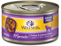 Wellness Grain Free Natural Turkey and Salmon Morsels Entree Canned Cat Food