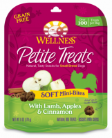Wellness Petite Treats Grain Free Natural Soft Mini-Bites Lamb, Apples and Cinnamon Recipe Small Dog Treats