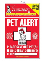 Rescue Rover Pet Alert Decal