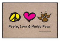 High Cotton Peace, Love, Muddy Paws Doormat
