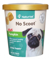 NaturVet No Scoot plus Pumpkin Functional Soft Chews for Dogs
