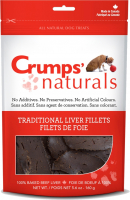 Crumps Naturals Traditional 100% Beef Liver Fillets Dog Treats