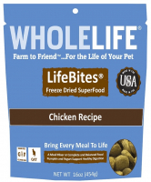 Whole Life LifeBites Grain Free Chicken Recipe Freeze Dried SuperFood for Cats