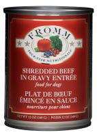 Fromm Four Star Shredded Beef in Gravy Entree Canned Dog Food