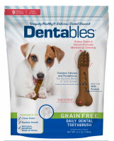 Dentables Grain Free Small Daily Dental Toothbrush Dog Treats