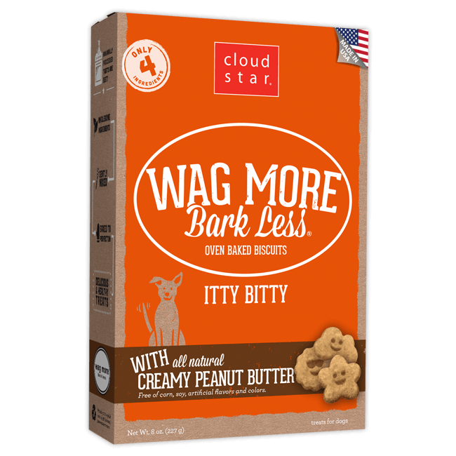 Cloud Star Itty Bitty Buddy Biscuits Peanut Butter Dog Treats