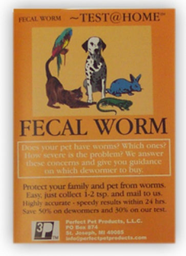 Perfect Pet Products Fecal Worm at Home Test for Dogs and