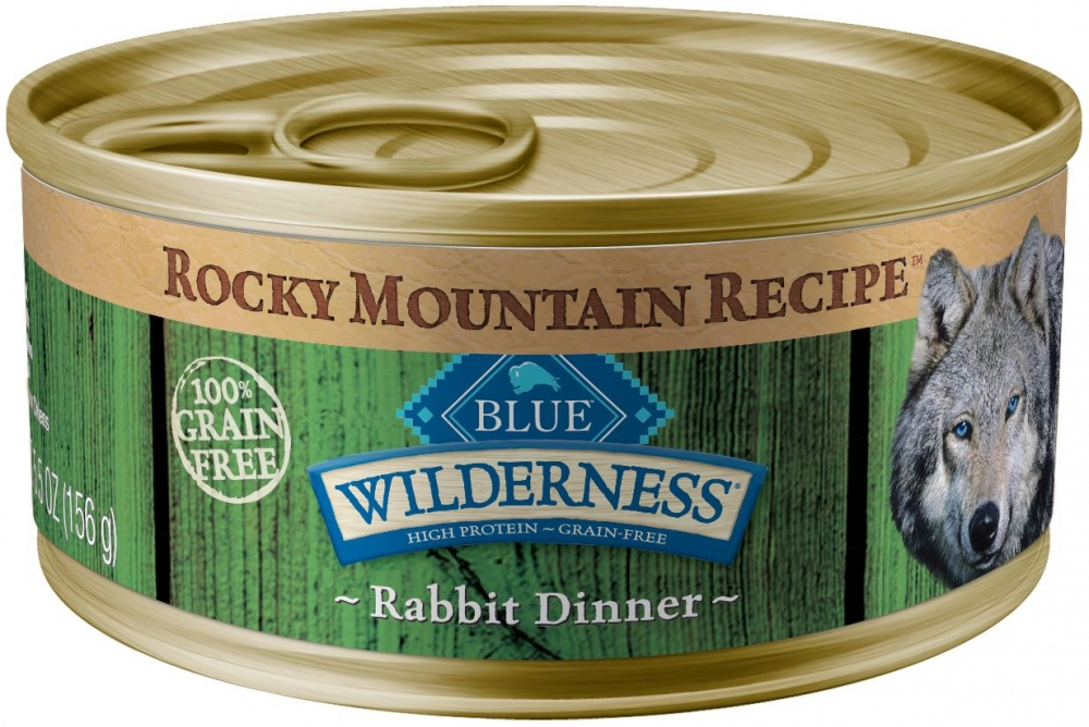 Blue Buffalo Wilderness Rocky Mountain Grain Free Recipe Adult Rabbit Canned Dog Food