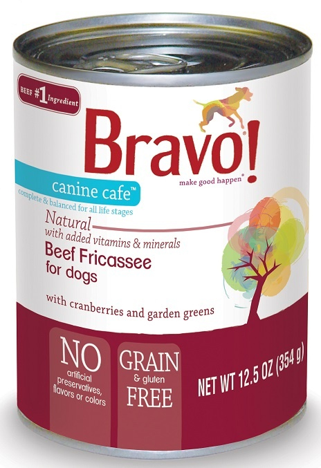 Bravo Canine Cafe Grain Free Beef Fricassee Canned Dog