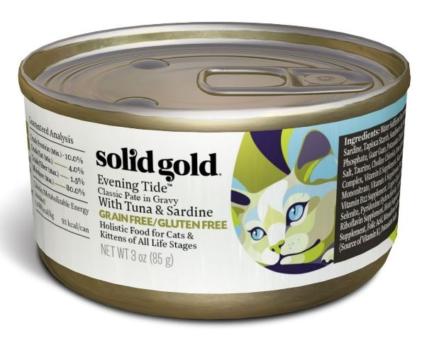 Solid Gold Grain Free Evening Tide Classic Pate In Gravy
