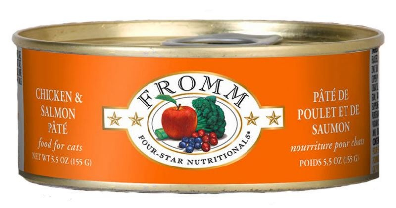 Fromm Four Star Grain Free Chicken & Salmon Pate Canned Cat Food